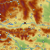 Nearby Forecast Locations - Фёлькермаркт - карта
