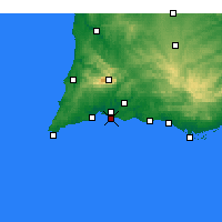 Nearby Forecast Locations - Praia da Rocha - карта