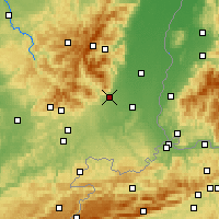 Nearby Forecast Locations - Cernay - карта