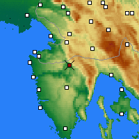 Nearby Forecast Locations - Бузет - карта
