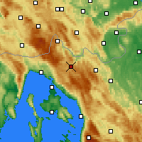 Nearby Forecast Locations - Делнице - карта