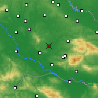Nearby Forecast Locations - Гарешница - карта
