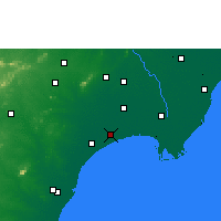 Nearby Forecast Locations - Bapatla - карта