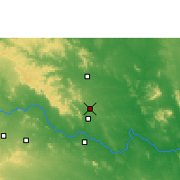 Nearby Forecast Locations - Bellampalle - карта