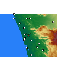 Nearby Forecast Locations - Chalakudy - карта