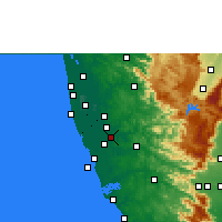 Nearby Forecast Locations - Chengannur - карта