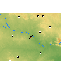 Nearby Forecast Locations - Gadwal - карта