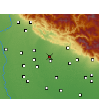 Nearby Forecast Locations - Jaspur - карта