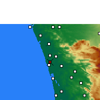 Nearby Forecast Locations - Kodungallur - карта