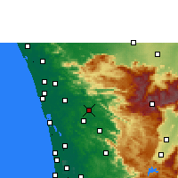 Nearby Forecast Locations - Kothamangalam - карта