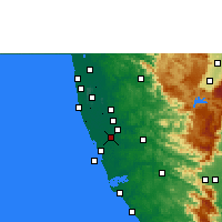 Nearby Forecast Locations - Mavelikkara - карта