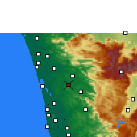 Nearby Forecast Locations - Muvattupuzha - карта