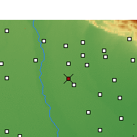 Nearby Forecast Locations - Naugawan Sadat - карта