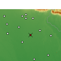 Nearby Forecast Locations - Nawabganj - карта
