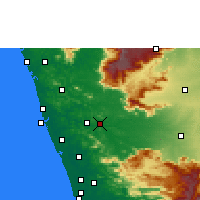 Nearby Forecast Locations - Ottapalam - карта