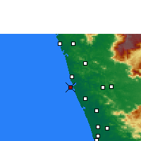 Nearby Forecast Locations - Ponnani - карта