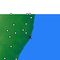 Nearby Forecast Locations - Pudupattinam - карта