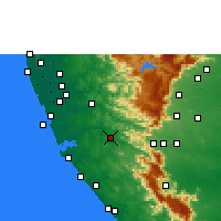Nearby Forecast Locations - Punalur - карта