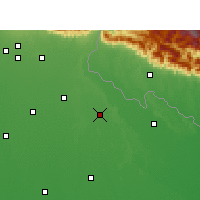 Nearby Forecast Locations - Puranpur - карта