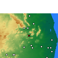 Nearby Forecast Locations - Puttur - карта