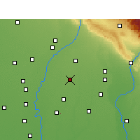 Nearby Forecast Locations - Rampur Maniharan - карта