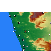 Nearby Forecast Locations - Shoranur - карта