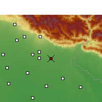 Nearby Forecast Locations - Sitarganj - карта