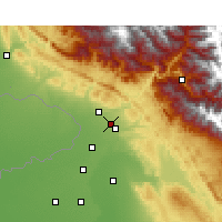 Nearby Forecast Locations - Sujanpur - карта