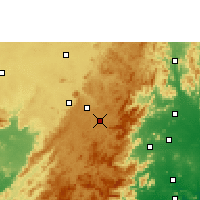 Nearby Forecast Locations - Sunabeda - карта