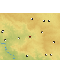 Nearby Forecast Locations - Tandur - карта