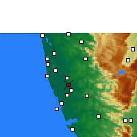 Nearby Forecast Locations - Tiruvalla - карта