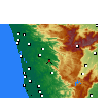 Nearby Forecast Locations - Thodupuzha - карта