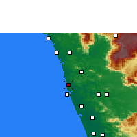 Nearby Forecast Locations - Tirur - карта