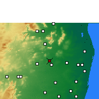 Nearby Forecast Locations - Thiruttani - карта