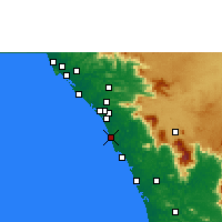 Nearby Forecast Locations - Vatakara - карта