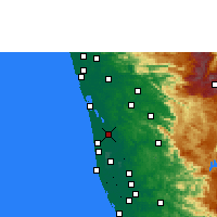 Nearby Forecast Locations - Vaikom - карта