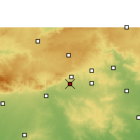 Nearby Forecast Locations - Warud - карта