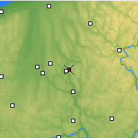 Nearby Forecast Locations - Hermitage - карта