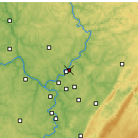 Nearby Forecast Locations - Lower Burrell - карта