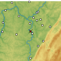 Nearby Forecast Locations - Monongahela - карта