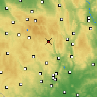 Nearby Forecast Locations - Bystřice nad Pernštejnem - карта
