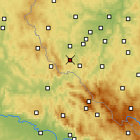 Nearby Forecast Locations - Домажлице - карта