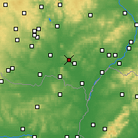 Nearby Forecast Locations - Hustopeče - карта
