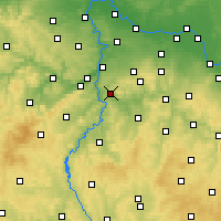 Nearby Forecast Locations - Йилове-у-Праги - карта