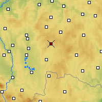 Nearby Forecast Locations - Kamenice nad Lipou - карта