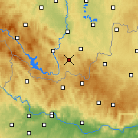 Nearby Forecast Locations - Kaplice - карта