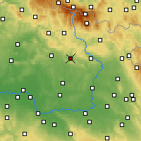 Nearby Forecast Locations - Lázně Bělohrad - карта