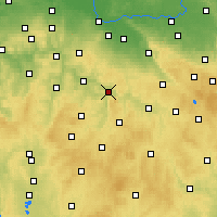 Nearby Forecast Locations - Ledeč nad Sázavou - карта
