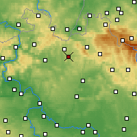 Nearby Forecast Locations - Страж-под-Ральскем - карта