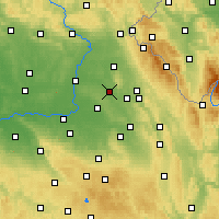 Nearby Forecast Locations - Týniště nad Orlicí - карта